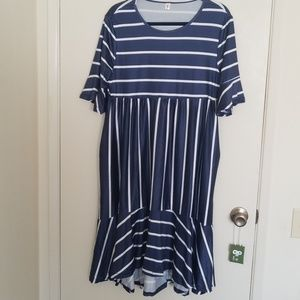Stripe navy dress